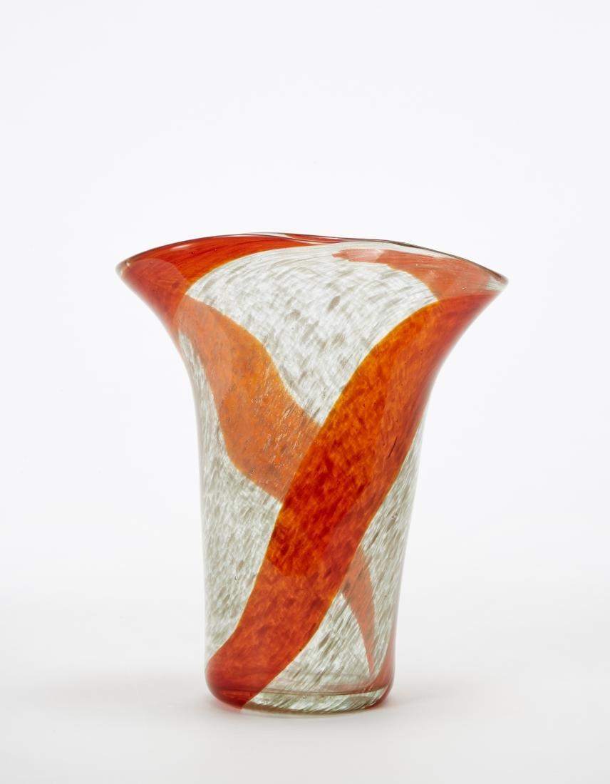 Manifattura di Murano Vaso in vetro trasparente a fasce