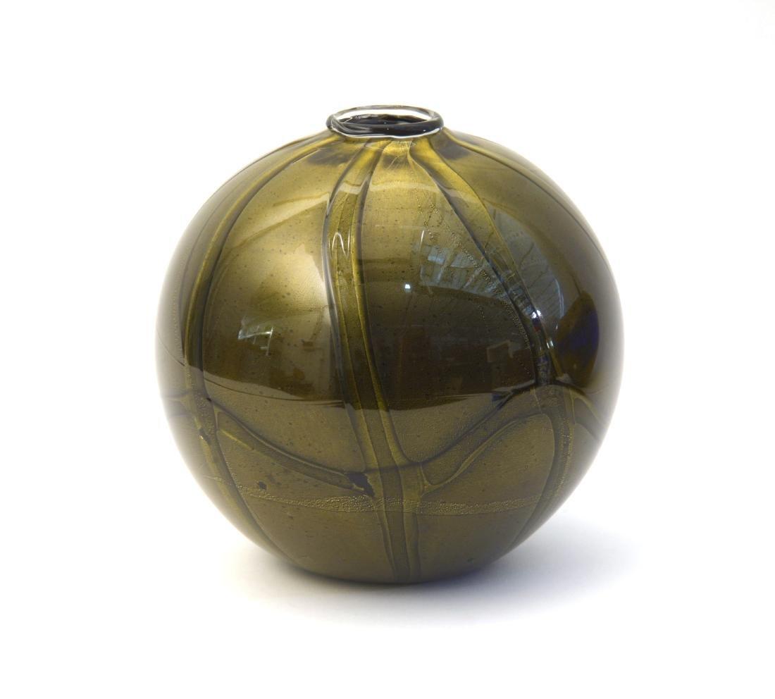 Seguso Viro Vaso globulare in vetro soffiato ametista
