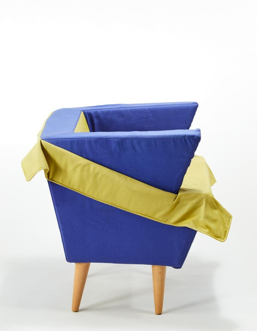 Anna Gili (Orvieto 1960)Prototype armchair covered in