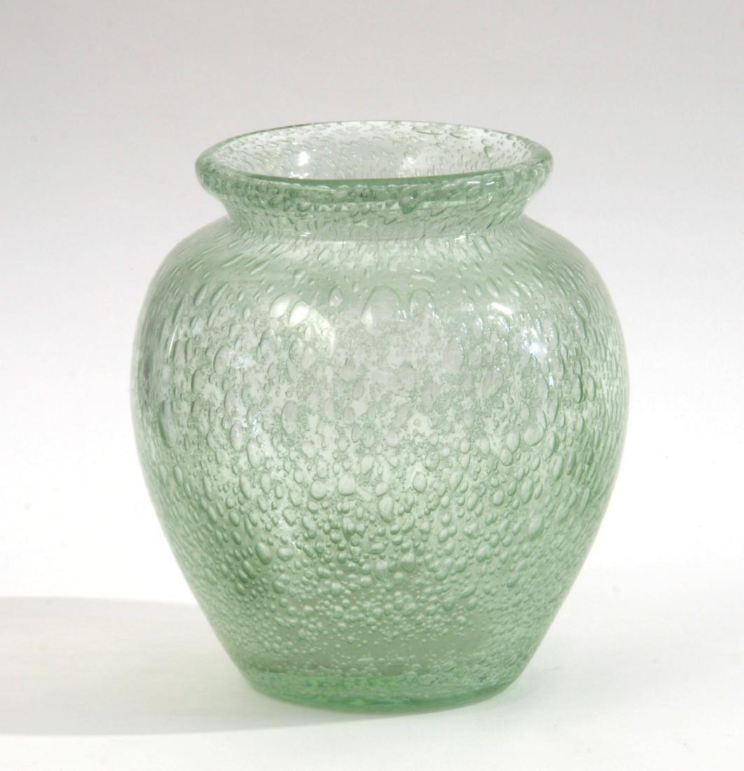 Manifattura di Murano Vaso in vetro soffiato verdino