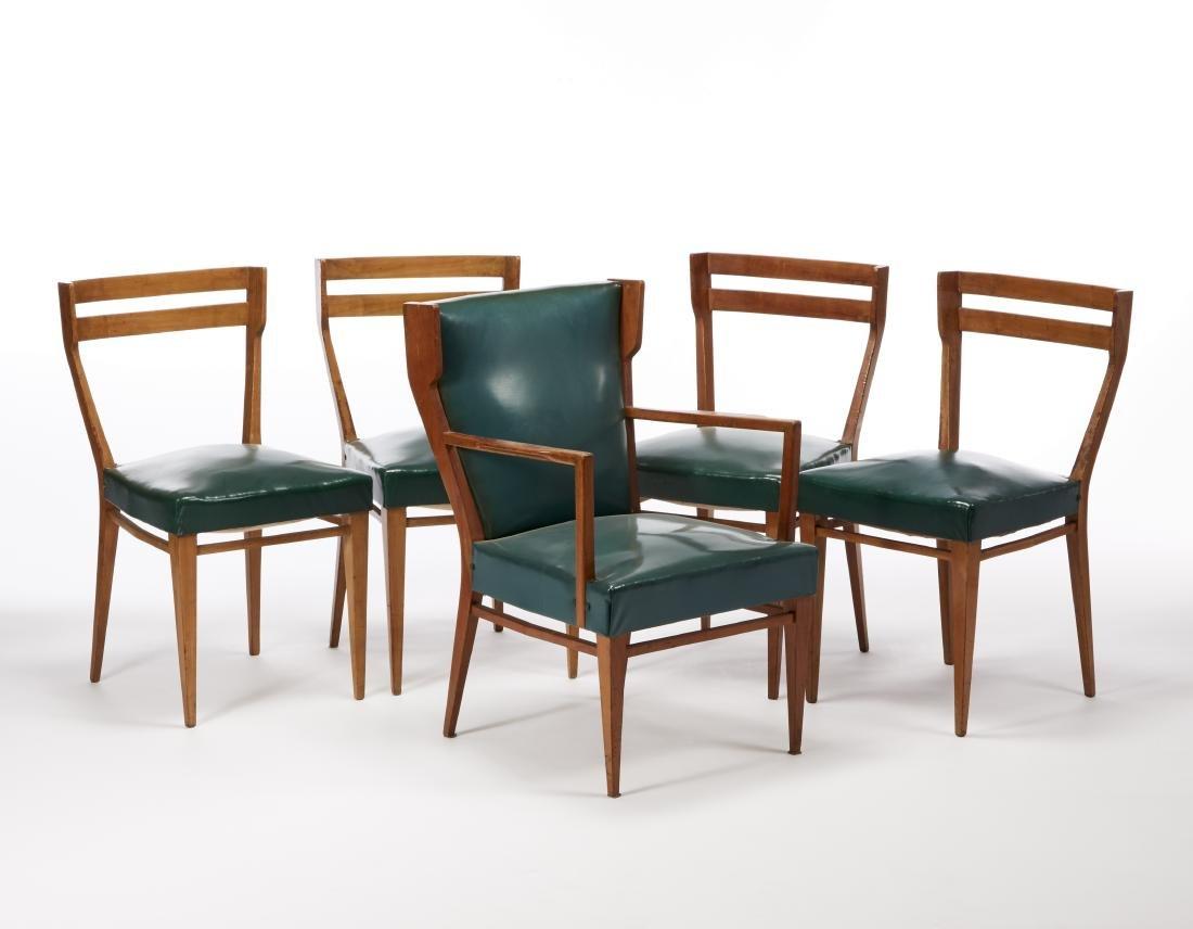 Alfredo Borghi Quattro sedie e una poltroncina su