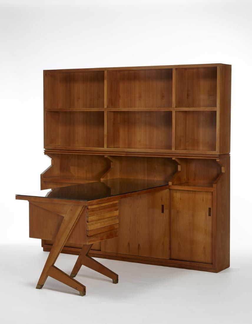 Alfredo Borghi Scrivania con libreria-archivio su