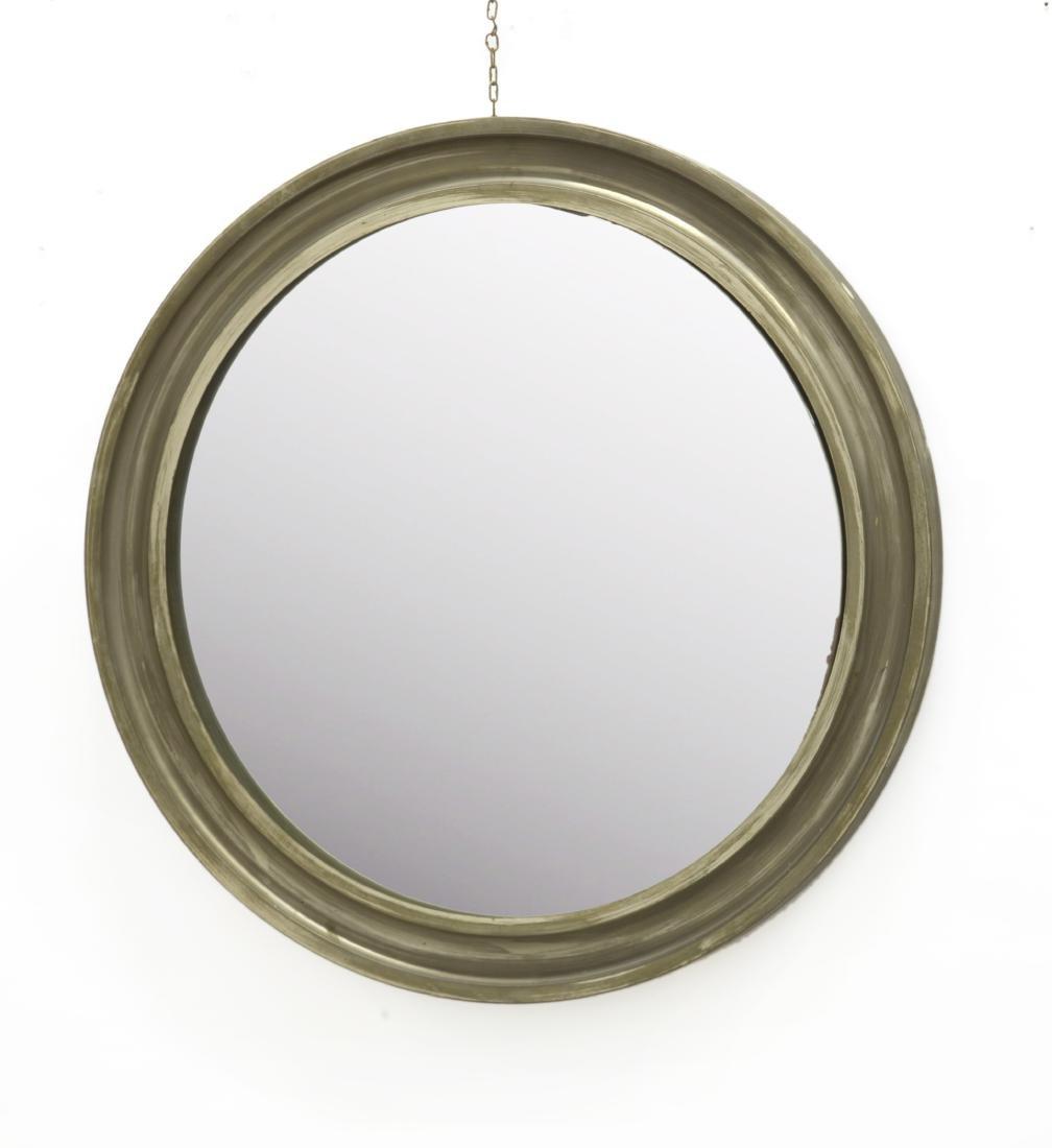 Sergio Mazza (Milano 1931)Specchio con cornice tonda.