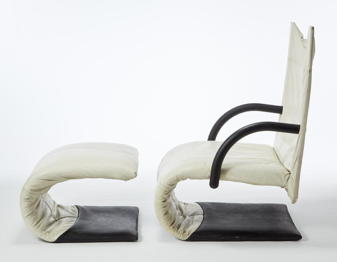 Claude Brisson (1947)Poltrona con poggiapiedi modello