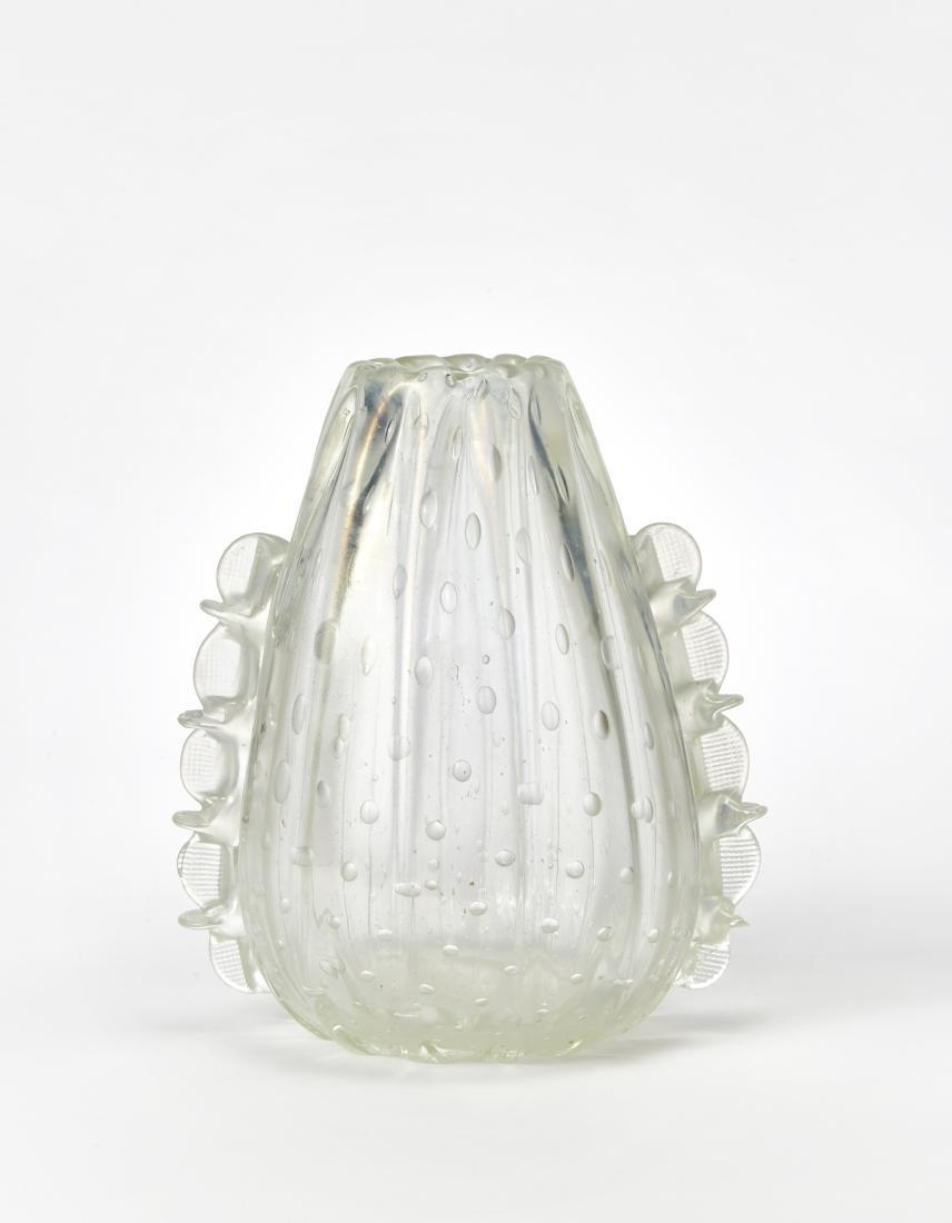 Barovier & Toso (Attribuito)Vaso a morise in vetro
