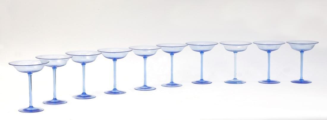 Manifattura di Murano Lotto di dieci coppe in vetro