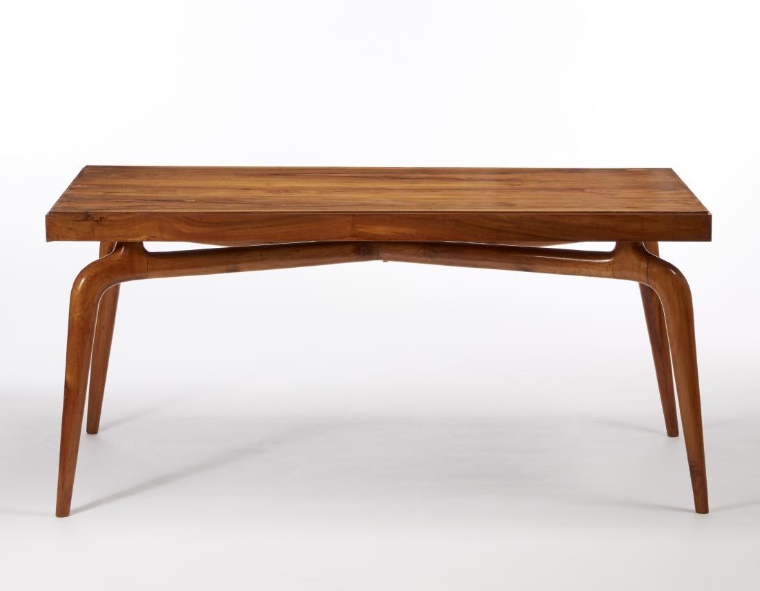 Tavolo da pranzo in legno di noce massello con piano