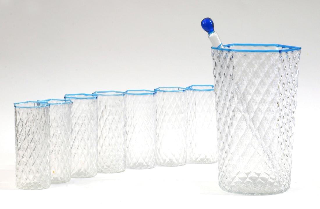 Barovier & Toso Servizio composto da sette bicchieri,