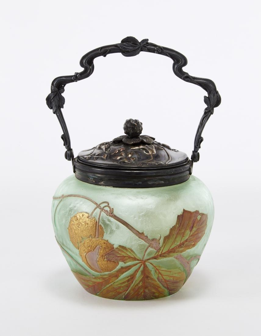 Cristallerie de Sèvres Contenitore Art Nouveau in vetro