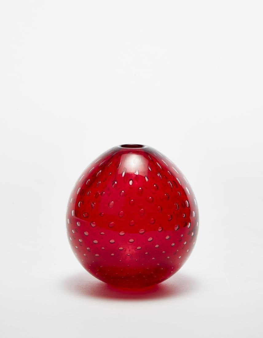 Venini Piccolo vaso leggermente ovoidale in vetro