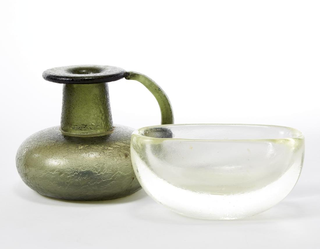 Seguso Lotto composto da una brocca in vetro soffiato