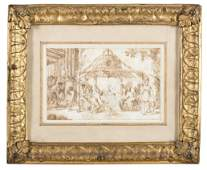 "17th century school Two drawings depicting ""Enco"