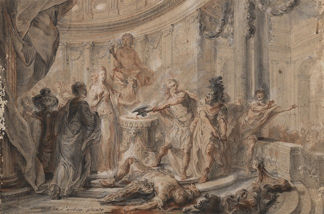 Gabriel Jacques De Saint-Aubin (Parigi 1724 - 1780)The