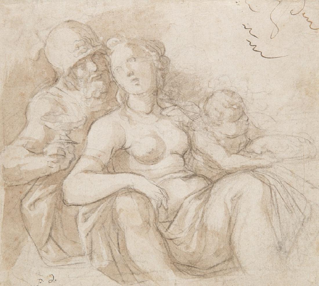 Italian school, 17th centuryMars and VenusBlack chalk