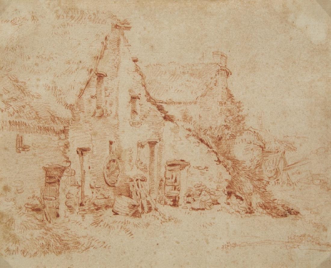 French artist, 18th centuryFarmhouseRed chalk on paper