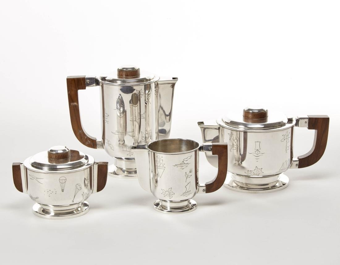 Ricci & C. Spa  Tea and coffee service in silver and