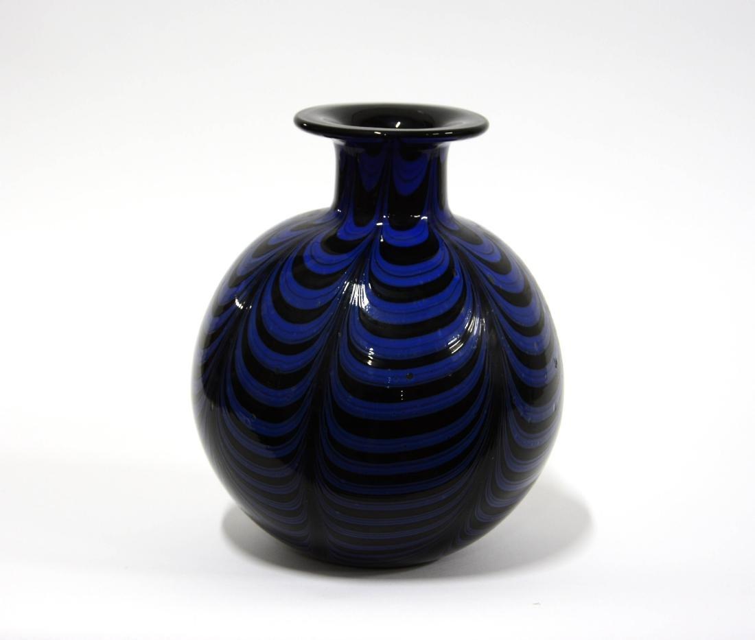 Manifattura di Murano  Bulbous vase in heavy black