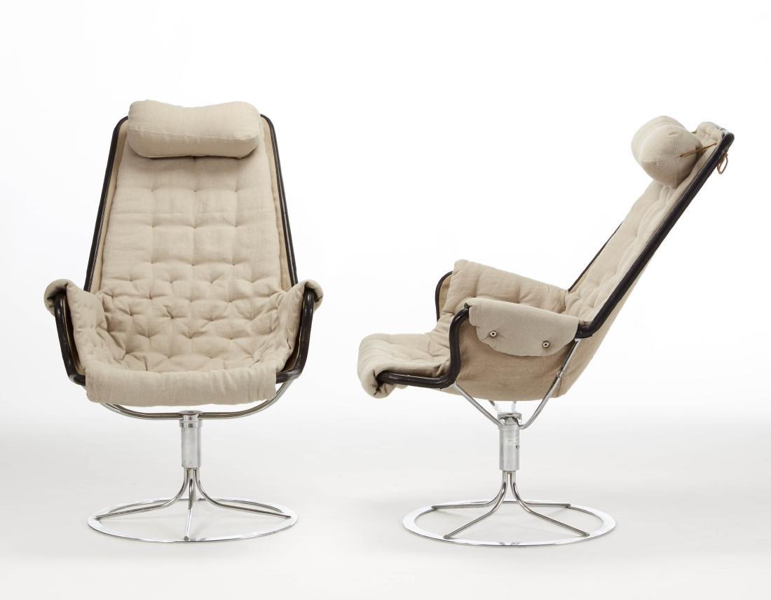Bruno Matthsson  Pair of swivel armchairs model