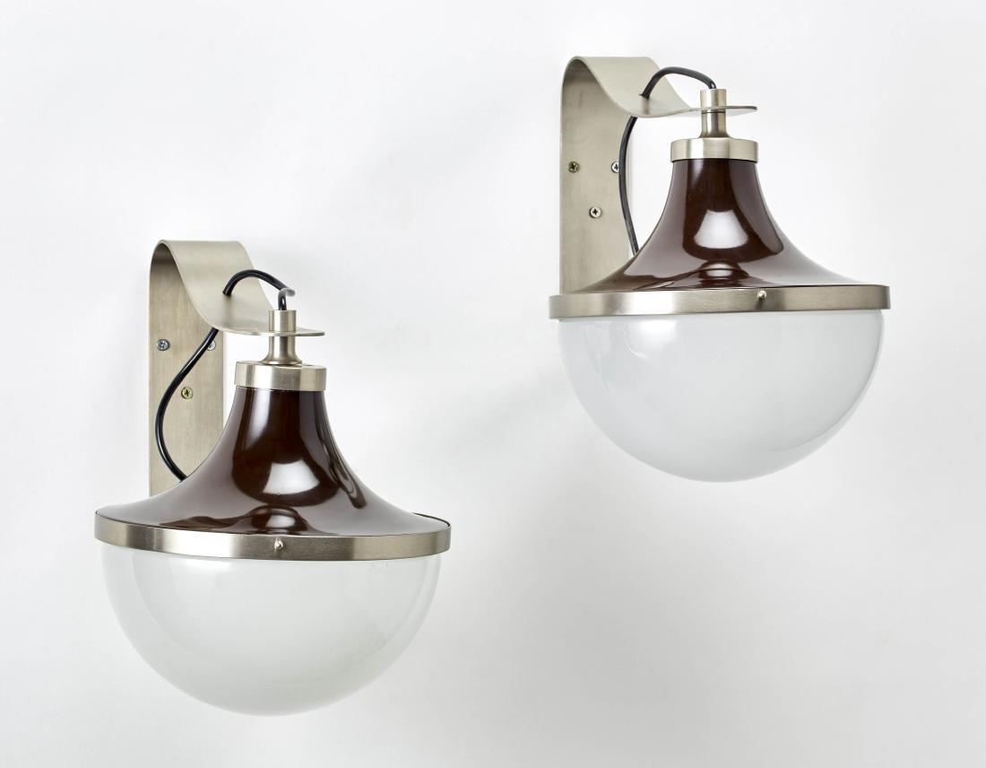 """Sergio Mazza (Milano 1931) Pair of wall lamps model """"Pi"""