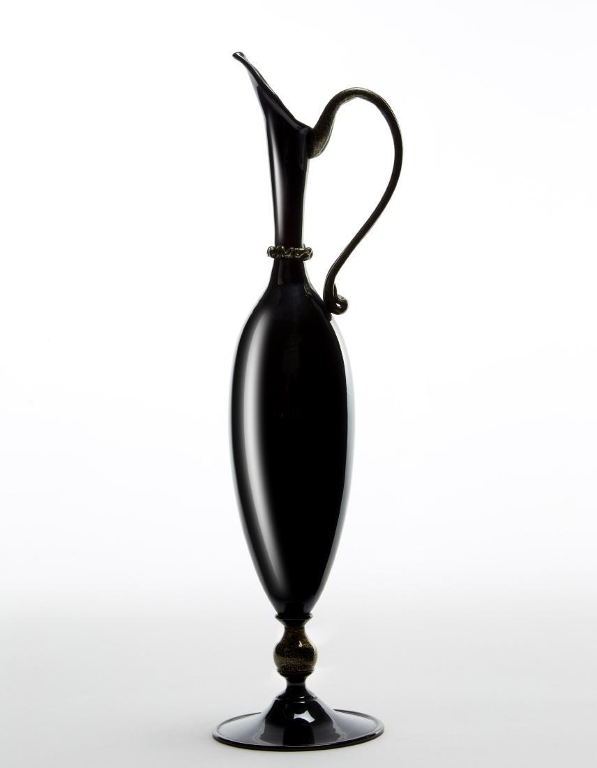 Manifattura di Murano  Iridescent dark amethyst glass