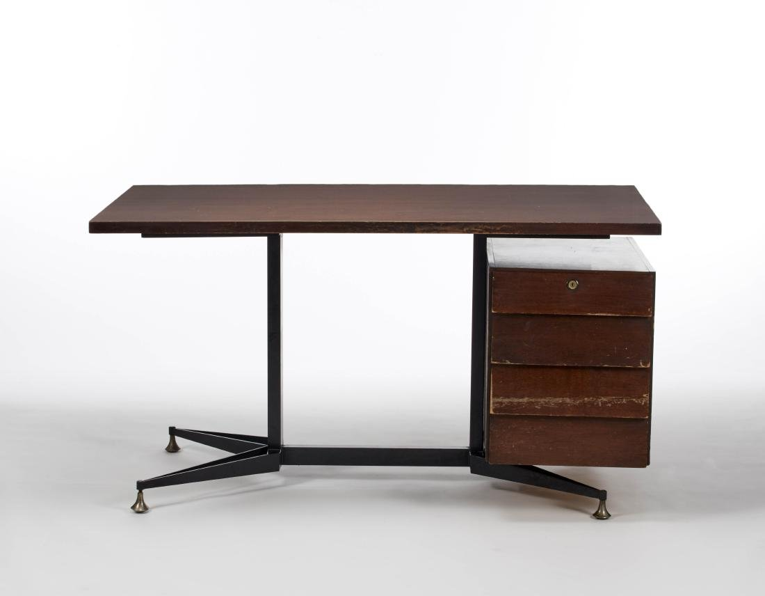 Renato Angeli  Office desk with 5 lateral drawers.