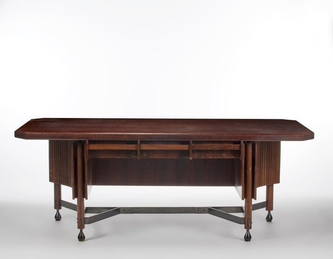 Renato Angeli  Desk in solid Indian rosewood, edged and