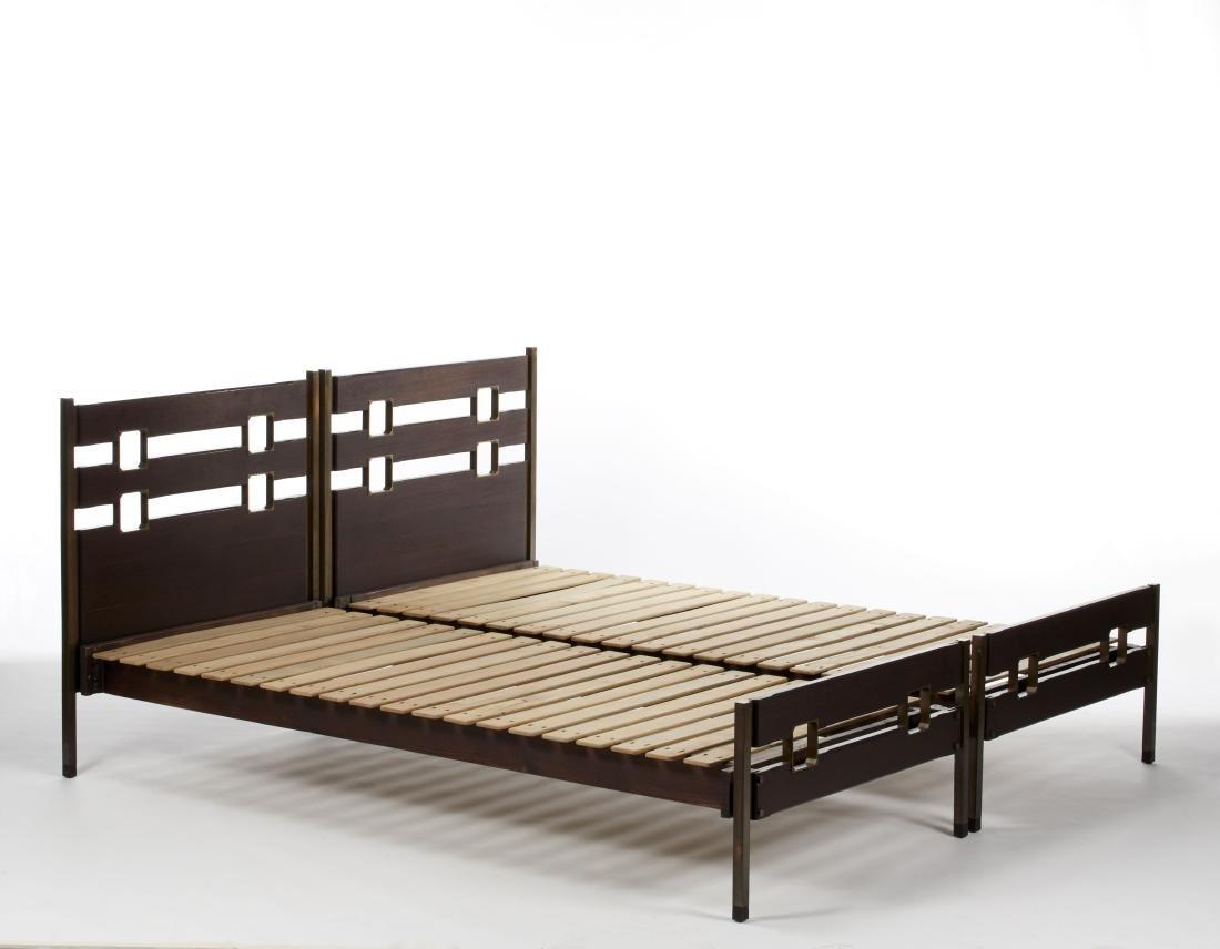 Ico Parisi (Palermo 1916 - Como 1996) Pair of beds