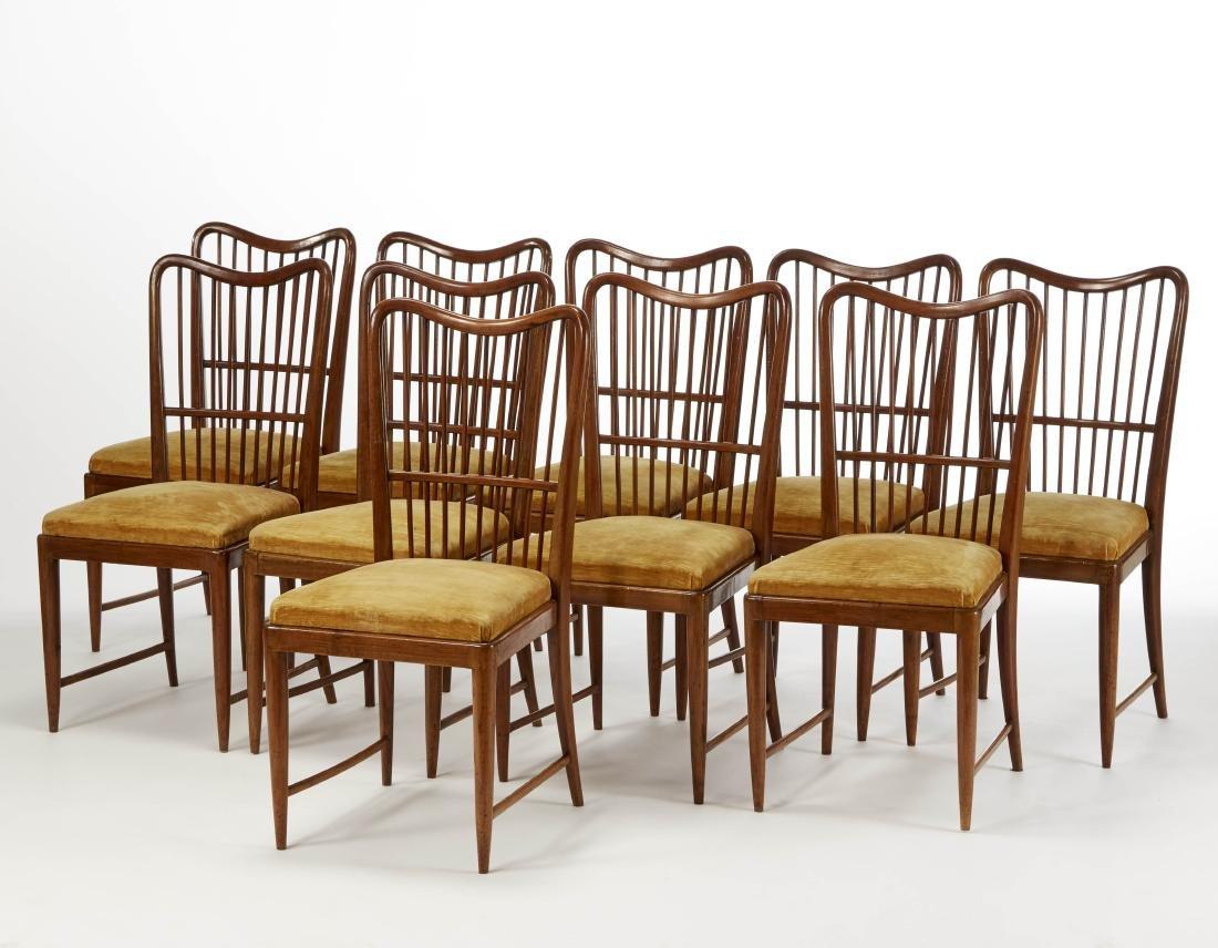 Paolo Buffa (Milano 1903 - Milano 1970) Ten chairs in