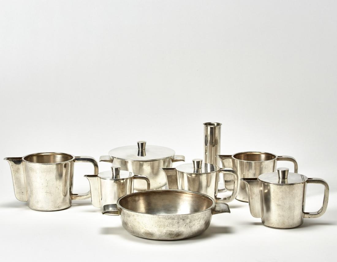 Gio Ponti (Milano 1891 - Milano 1979) Alpacca set of