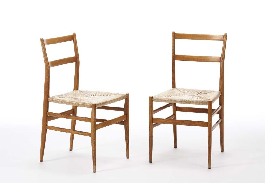 Gio Ponti (Milano 1891 - Milano 1979) Pair of chairs