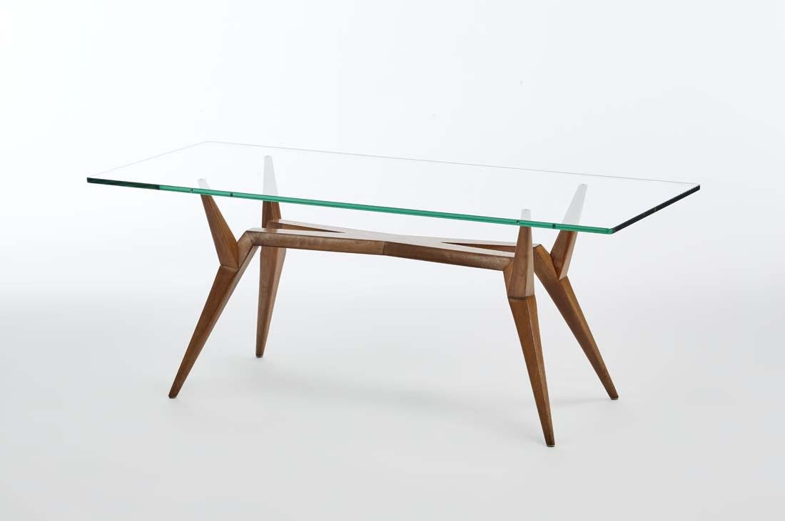 Coffee table with rectangular top made in the style of