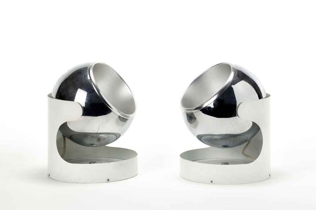 Luci  Pair of wall lamps with structure in white