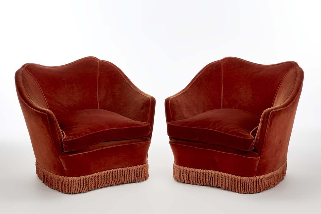 Casa e Giardino  (Attributed) Pair of upholstered