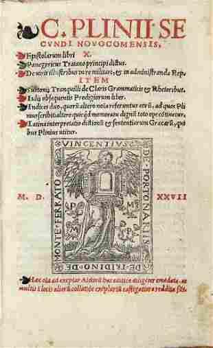PLINIO, Gaio Cecilio Secondo (62-114 d.C) - Epistolarum
