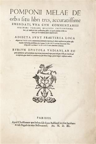 MELA, Pomponio (attivo 43-50) - De orbis situ libri