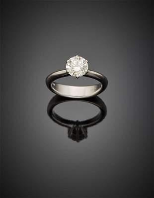 SALVINI White gold ct. 1.53 round brilliant cut diamond
