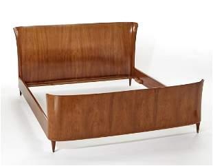 Paolo Buffa (Milano 1903 - Milano 1970) Double bed with