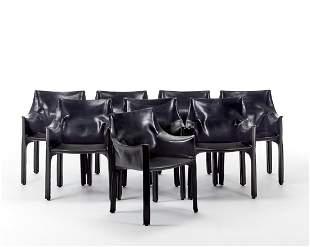 Mario Bellini (Milano 1935) Eight armchairs with