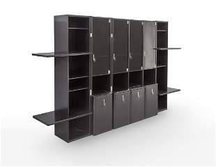 Vittorio Introini (1935) Bookcase with chairs