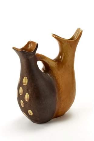 Richard - Ginori Two-mouthed vase. Milan, 1950s.