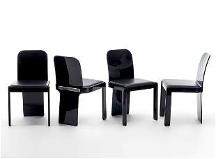 Pierluigi Molinari (Milano 1938) Four chairs. Produced