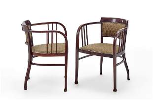 "Thonet Pair of armchairs model ""6093"". Austria,"