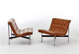 William Katavolos (1924 - 2020) Pair of armchairs model
