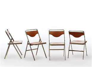 Gianni Moscatelli (1930) Lot of four folding chairs
