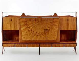 Large sideboard in veneered wood with lower part with