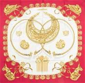 "Hermes Paris: silk scarf with ""Les Cavaliers d'or"""
