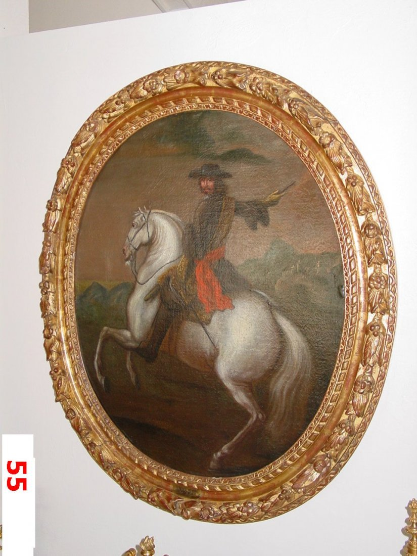 Equestrian Figure with Red Sash