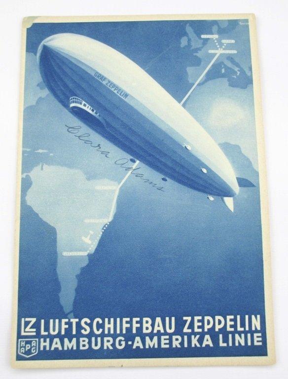 CLARA ADAMS SIGNED 1930's GRAF ZEPPELIN BOOKLET