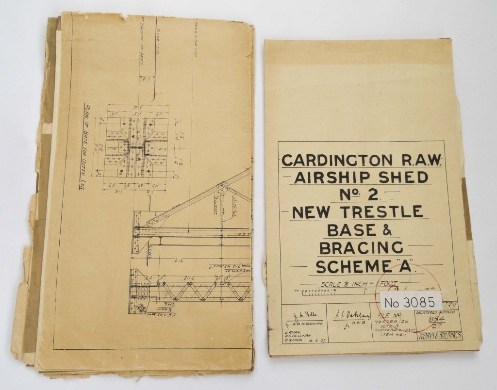 CARDINGTON AIRSHIP SHEDS 1927 PLANS
