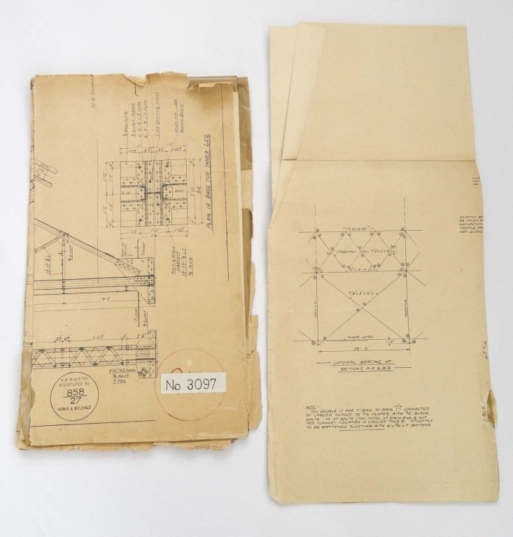 CARDINGTON AIRSHIP SHEDS 1927 PLANS - 2